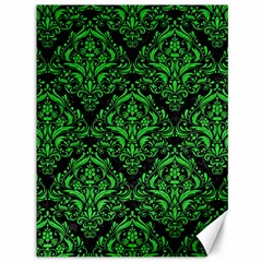 Damask1 Black Marble & Green Colored Pencil Canvas 36  X 48