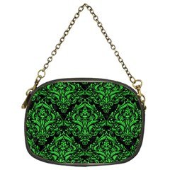 Damask1 Black Marble & Green Colored Pencil Chain Purses (one Side)