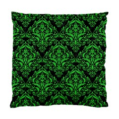 Damask1 Black Marble & Green Colored Pencil Standard Cushion Case (one Side)
