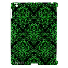 Damask1 Black Marble & Green Colored Pencil Apple Ipad 3/4 Hardshell Case (compatible With Smart Cover)