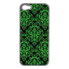 Damask1 Black Marble & Green Colored Pencil Apple Iphone 5 Case (silver)