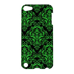 Damask1 Black Marble & Green Colored Pencil Apple Ipod Touch 5 Hardshell Case