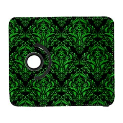 Damask1 Black Marble & Green Colored Pencil Galaxy S3 (flip/folio)