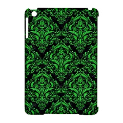 Damask1 Black Marble & Green Colored Pencil Apple Ipad Mini Hardshell Case (compatible With Smart Cover)