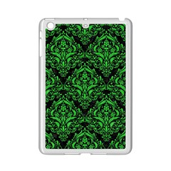 Damask1 Black Marble & Green Colored Pencil Ipad Mini 2 Enamel Coated Cases