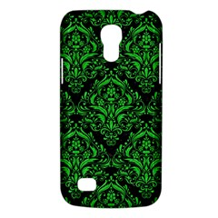 Damask1 Black Marble & Green Colored Pencil Galaxy S4 Mini