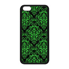 Damask1 Black Marble & Green Colored Pencil Apple Iphone 5c Seamless Case (black)