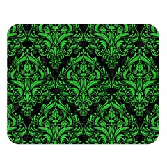 Damask1 Black Marble & Green Colored Pencil Double Sided Flano Blanket (large)