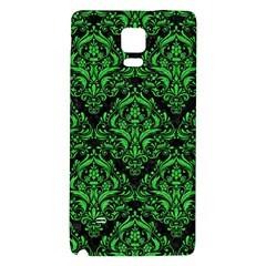 Damask1 Black Marble & Green Colored Pencil Galaxy Note 4 Back Case