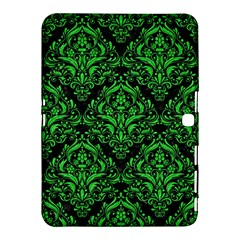 Damask1 Black Marble & Green Colored Pencil Samsung Galaxy Tab 4 (10 1 ) Hardshell Case