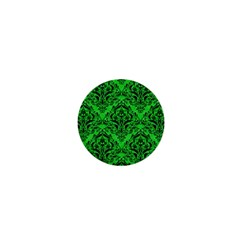 Damask1 Black Marble & Green Colored Pencil (r) 1  Mini Magnets