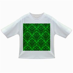 Damask1 Black Marble & Green Colored Pencil (r) Infant/toddler T Shirts