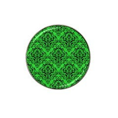 Damask1 Black Marble & Green Colored Pencil (r) Hat Clip Ball Marker (10 Pack)