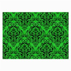 Damask1 Black Marble & Green Colored Pencil (r) Large Glasses Cloth (2 Side)