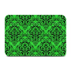 Damask1 Black Marble & Green Colored Pencil (r) Plate Mats