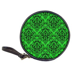 Damask1 Black Marble & Green Colored Pencil (r) Classic 20 Cd Wallets
