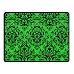 Damask1 Black Marble & Green Colored Pencil (r) Fleece Blanket (small)