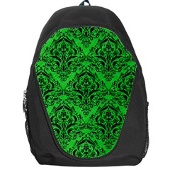 Damask1 Black Marble & Green Colored Pencil (r) Backpack Bag