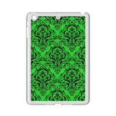 Damask1 Black Marble & Green Colored Pencil (r) Ipad Mini 2 Enamel Coated Cases