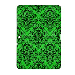 Damask1 Black Marble & Green Colored Pencil (r) Samsung Galaxy Tab 2 (10 1 ) P5100 Hardshell Case