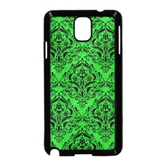 Damask1 Black Marble & Green Colored Pencil (r) Samsung Galaxy Note 3 Neo Hardshell Case (black)