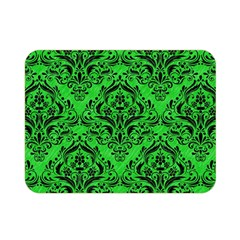 Damask1 Black Marble & Green Colored Pencil (r) Double Sided Flano Blanket (mini)