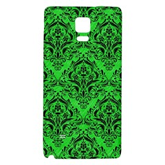 Damask1 Black Marble & Green Colored Pencil (r) Galaxy Note 4 Back Case
