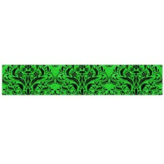 Damask1 Black Marble & Green Colored Pencil (r) Flano Scarf (large)