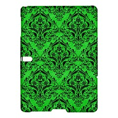 Damask1 Black Marble & Green Colored Pencil (r) Samsung Galaxy Tab S (10 5 ) Hardshell Case