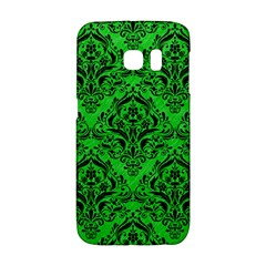 Damask1 Black Marble & Green Colored Pencil (r) Galaxy S6 Edge