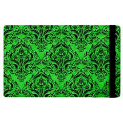 Damask1 Black Marble & Green Colored Pencil (r) Apple Ipad Pro 9 7   Flip Case