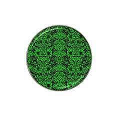 Damask2 Black Marble & Green Colored Pencil Hat Clip Ball Marker (10 Pack)