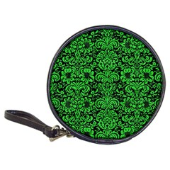 Damask2 Black Marble & Green Colored Pencil Classic 20 Cd Wallets
