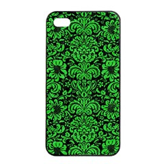 Damask2 Black Marble & Green Colored Pencil Apple Iphone 4/4s Seamless Case (black)