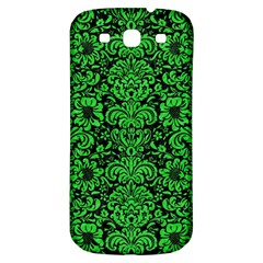 Damask2 Black Marble & Green Colored Pencil Samsung Galaxy S3 S Iii Classic Hardshell Back Case