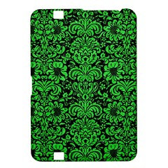 Damask2 Black Marble & Green Colored Pencil Kindle Fire Hd 8 9