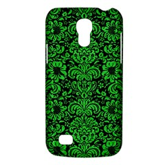Damask2 Black Marble & Green Colored Pencil Galaxy S4 Mini