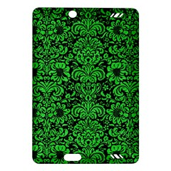Damask2 Black Marble & Green Colored Pencil Amazon Kindle Fire Hd (2013) Hardshell Case