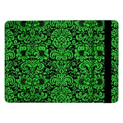 Damask2 Black Marble & Green Colored Pencil Samsung Galaxy Tab Pro 12 2  Flip Case