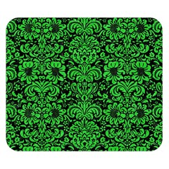 Damask2 Black Marble & Green Colored Pencil Double Sided Flano Blanket (small)