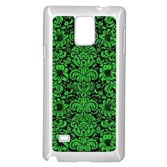Damask2 Black Marble & Green Colored Pencil Samsung Galaxy Note 4 Case (white)