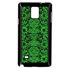 Damask2 Black Marble & Green Colored Pencil Samsung Galaxy Note 4 Case (black)