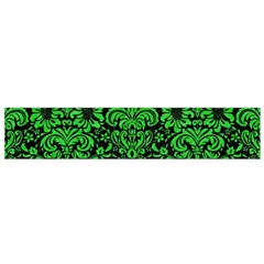 Damask2 Black Marble & Green Colored Pencil Flano Scarf (small)