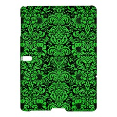 Damask2 Black Marble & Green Colored Pencil Samsung Galaxy Tab S (10 5 ) Hardshell Case