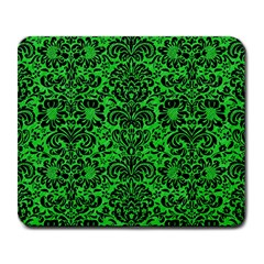 Damask2 Black Marble & Green Colored Pencil (r) Large Mousepads