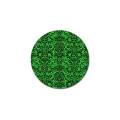 Damask2 Black Marble & Green Colored Pencil (r) Golf Ball Marker
