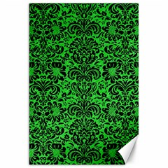 Damask2 Black Marble & Green Colored Pencil (r) Canvas 20  X 30