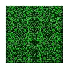 Damask2 Black Marble & Green Colored Pencil (r) Face Towel
