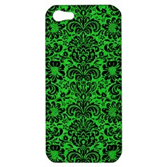 Damask2 Black Marble & Green Colored Pencil (r) Apple Iphone 5 Hardshell Case