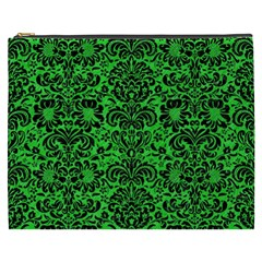 Damask2 Black Marble & Green Colored Pencil (r) Cosmetic Bag (xxxl)